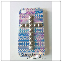 Galaxy Aztec Studded Cross Case by CasesbyOliviaRose on Etsy