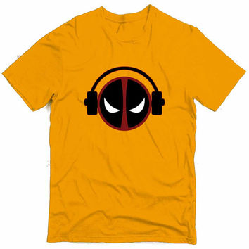 Deadpool In His Zone Graphic Tee (mj-os-NL3600-deadpoolmusic-mltclr