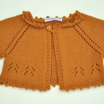 Baby Sweater Toddler Sweater Baby Shrug Autumn by knoodleknits
