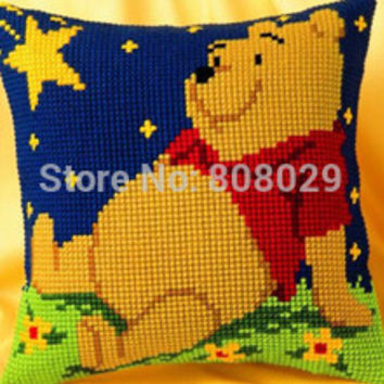 CX0020,Crafts Cushion   Printed Cross Stitch Kits Tapestry pillow KIT Home Decorative Pillows Needlework cushion