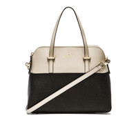 kate spade new york Maise Satchel in Black & Pebble