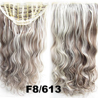 Bath & Beauty 7 Clip in Elastic Cap Wig Curly hair synthetic hair extension hairpieces wavy slice curly hairpiece SCH-888 F8/613,Hair Care,fashion Cosplay ombre 1PCS