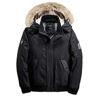 Mens Winter Casual Outdoor Hooded Design Inside Thicken Coats Warm Jackets