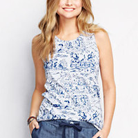 Women's Cotton Tank Top - Print from Lands' End