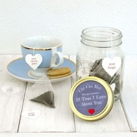 10 Teas I Love About You Gift Jar