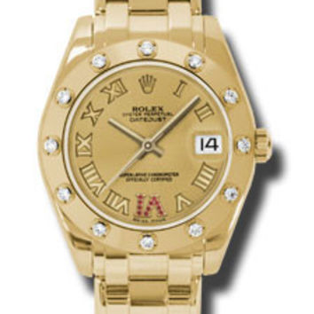 Rolex - Datejust Pearlmaster 34 Yellow Gold