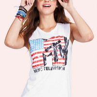 MTV American Flag Muscle Tank