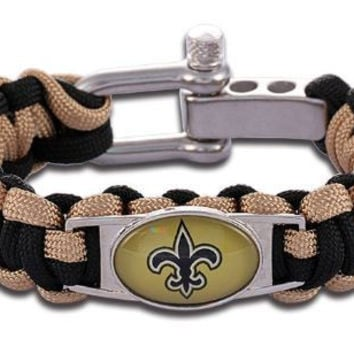 NFL - New Orleans Saints Custom Paracord Bracelet