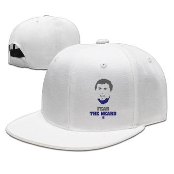 Andrew Luck Fear The Neard 12 Cotton Unisex Adult Womens Snapback Caps Mens Hip-hop Hats