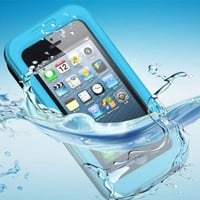 Waterproof Shockproof Dirtproof Snowproof Case Cover For Apple iPhone 5S 5C 5 (Blue)