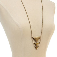 Burnished Geo Pendant Necklace