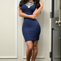 Be Mine Dress Navy Blue