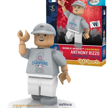 Chicago Cubs ANTHONY RIZZO World Series T-Shirt Limited Edition OYO Minifigure