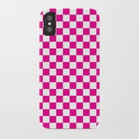 Pink Checkerboard Pattern by CoolFunAwesomeTime