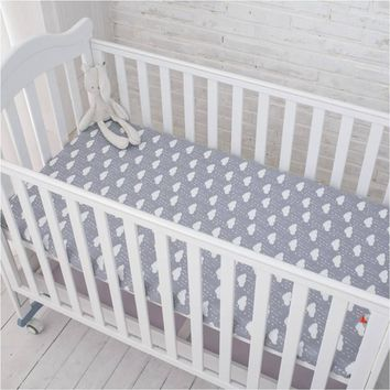 Baby 100% cotton bed sheet for newborn