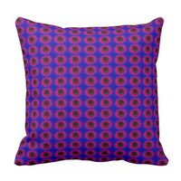Red music speaker pattern cushion