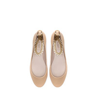 BALLERINA WITH ANKLE STRAP - Shoes - Woman - New collection | ZARA United Kingdom