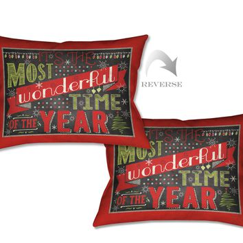 Holiday Talk Indoor Decorative Pillow