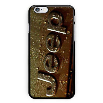 Hot Jeep Gold Vintage Logo Hard Plastic Case iPhone 6/6s/6s+/7/7+/8/8+ Samsung