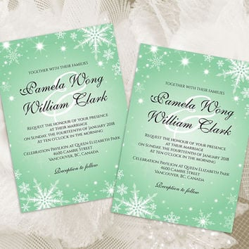 Shop Winter Wedding Invitations on Wanelo