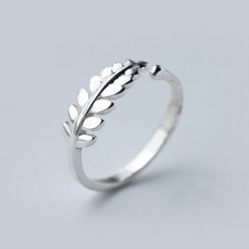 Fresh ear of wheat  925 sterling silver ring, a perfect gift
