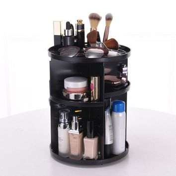 Makeup Organizer 360 Rotating Adjustable Storage Box Large Capacity Rack for Cosmetics Brushes For Women Makeup Tool FM88