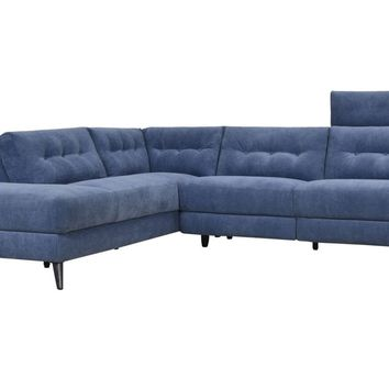 Beaumont Power Recliner Sectional Sofa Left | Navy Blue