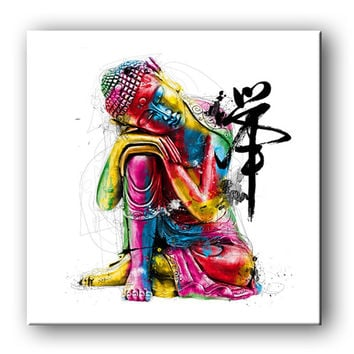 Free Shipping E-HOME Oil Painting Buddha Decoration Painting Canvas Print Poster Canvas Painting Home Decor  Wall art