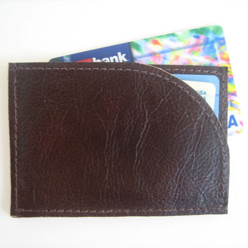 Men's Brown Leather ID Wallet