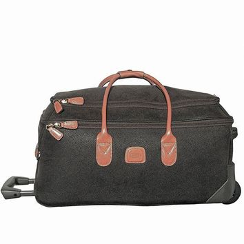 ONETOW Bric's Luggage Life 21 Inch Carry On Rolling Duffle