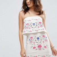 Parisian Strapless Embroidered Dress at asos.com