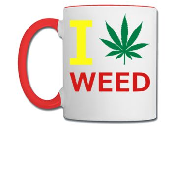 i love weed - Coffee/Tea Mug