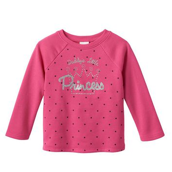 Jumping Beans French Terry Sweatshirt - Baby Girl, Size: