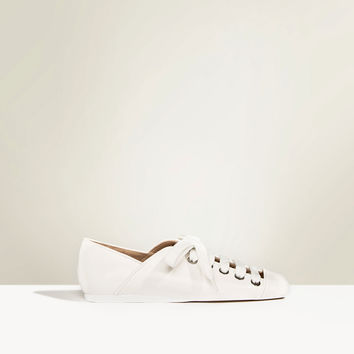 STUDIO FLAT LACE-UP LEATHER SHOES DETAILS