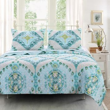 Designer Cascade 2-Piece Twin Quilt Set
