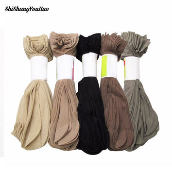 Hot Sale! High Quality Women Velvet Socks Female Socks Summer Sock Thin Silk Transparent 5 Pair=10 Pieces 4 Color#D