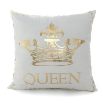 Cool Cushion Covers Bronzing  Queen King Lips Letter Moon Cute Throw Pillow Covers 45x45cm Square Pillowcase Sofa Home DecorativeAT_93_12