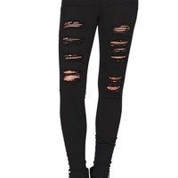 Kendall & Kylie High Rise Skinniest Jeans - Womens Jeans - Black -