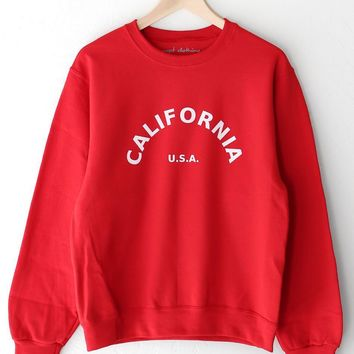 California USA Oversized Sweatshirt