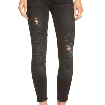 True Religion Brand Jeans Halle Ankle Skinny Jeans (Destroyed Pepper) | Nordstrom