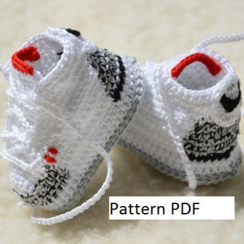 CROCHET PATTERN -Nike Air Jordan 3 Crochet Baby Booties pattern