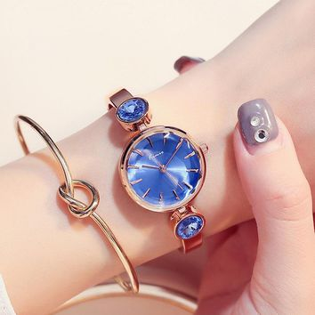 Kimio Classic Blue Women Bracelet Watch Ladies Gem Quartz Watches Clock Female Dress Relogio Feminino For Woman Relojes Mujer