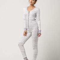COSMIC LOVE Fair Isle Womens PJ Onesuit | Pajamas