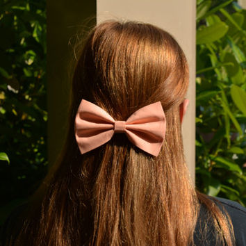 Peach Hair Bow, Hairbows for girls, Solid Color Hair Bow, Hair Bow, Bows, Bow