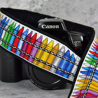 Crayons Camera Strap, dSLR, SLR, Colorful, Available in two lengths, 199 w