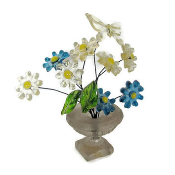 Vintage Resin Flowers, 1970's Flower Power Decoration, Gamut Designs, Mod Resin Flowers, Flowers In Vase, Mod 1970's Decor