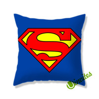 Superman Logo Square Pillow Cover