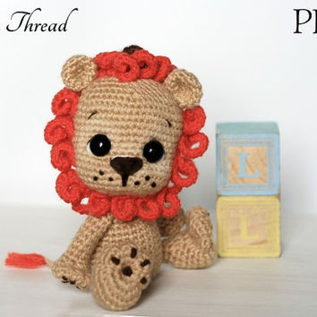 Elfin Thread -Leander the Chibi Lion Amigurumi PDF Pattern (lion crochet pattern)