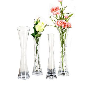Transparent Glass Flower Vase Home Decoration Vases  Filler Terrarium Terrarium Succulents Plant Gift Micro Landscape Cover