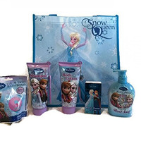 Disney Frozen Anna Elsa Bath and Body Set with Gift Tote Bag